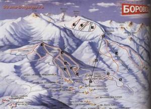 Карта Боровец