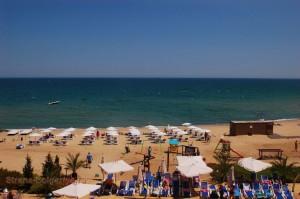 Пляж болгарского курорта Обзор