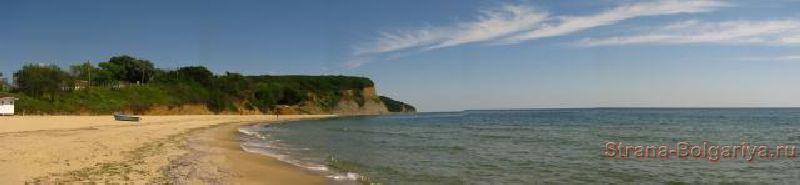 Панорама пляжа Курорт Дюны