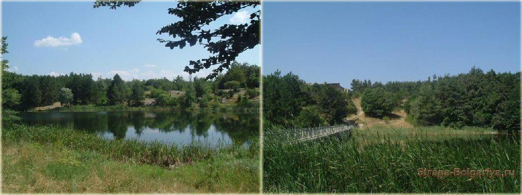 Озера и болота в природном парке Синие камни