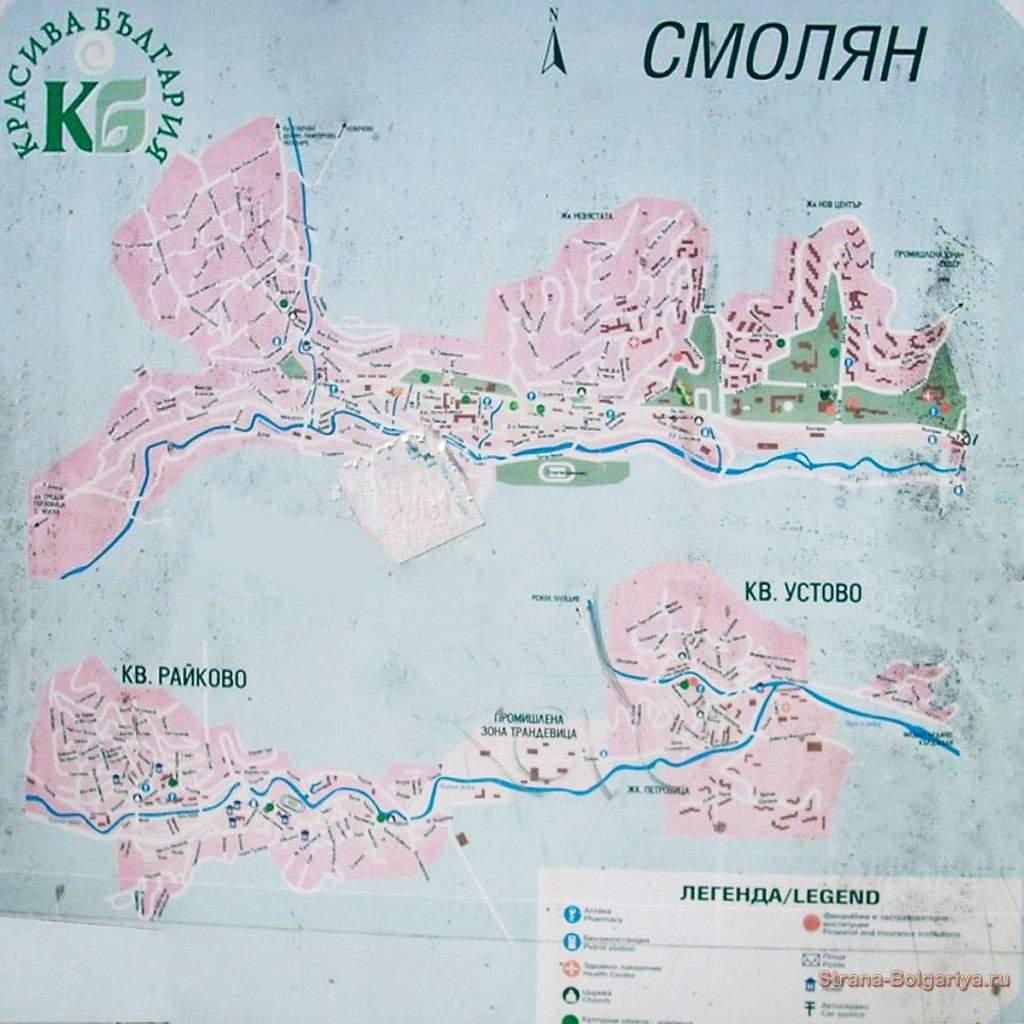 Карта Смолян